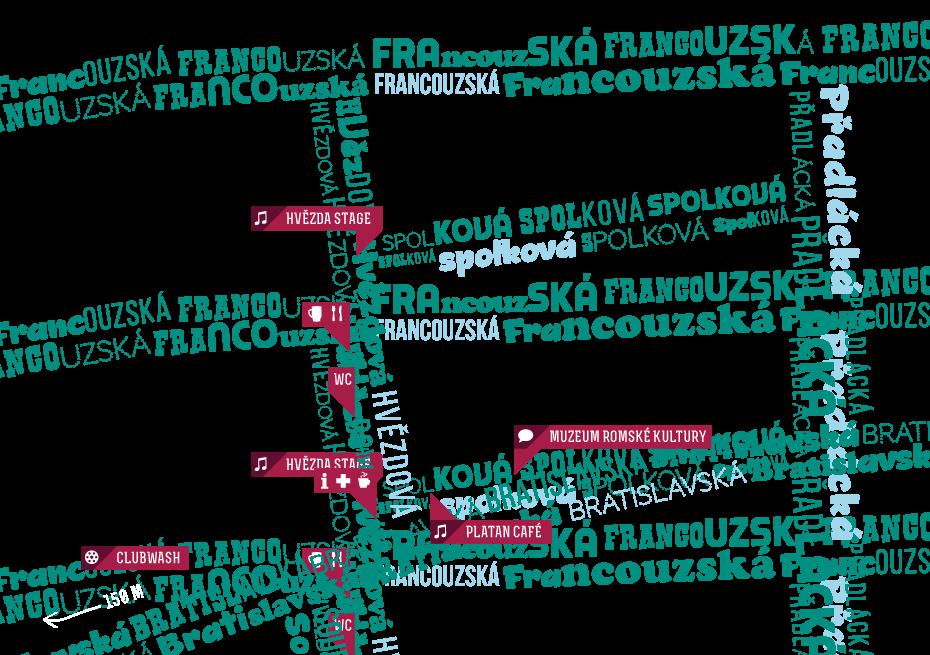 Mapa festivalu